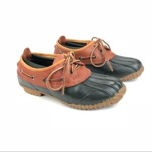 Timberland Wmns Duck Shoes Sz 8 Brwn Leather